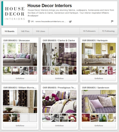 optimized Pinterest board